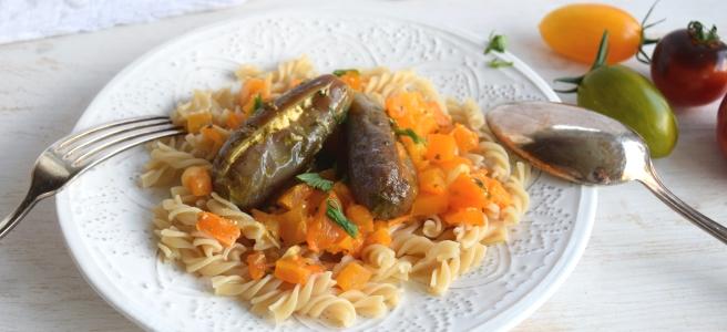 Apullische Pasta mit Mini-Auberginen und Tomaten